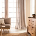 Κουρτινες - Κουρτίνες Έτοιμες Ραμμένες Υφάσματα για Σαλόνι , Καθιστικό, Τραπεζαρία , Υπνοδωμάτιο με ημι-διαφάνεια 140X280 Gofis Home Punto Μπεζ 436/06, με τρουκς