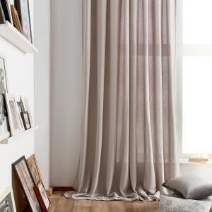 Κουρτίνα Έτοιμη Ραμμένη με ημι-διαφάνεια 140X280 Gofis Home Punto Γκρι 436/15, με τρουκς