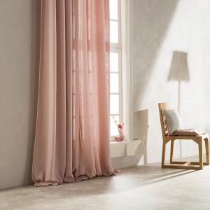 Κουρτίνα Έτοιμη Ραμμένη με ημι-διαφάνεια 140X280 Gofis Home Punto Ροζ 436B/17, με σιρίτι