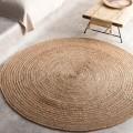 Χαλί Ροτόντα (150cm) Gofis Home Rundo Φυσικό Jute 258, με φυσική ίνα από το φυτό γιούτα
