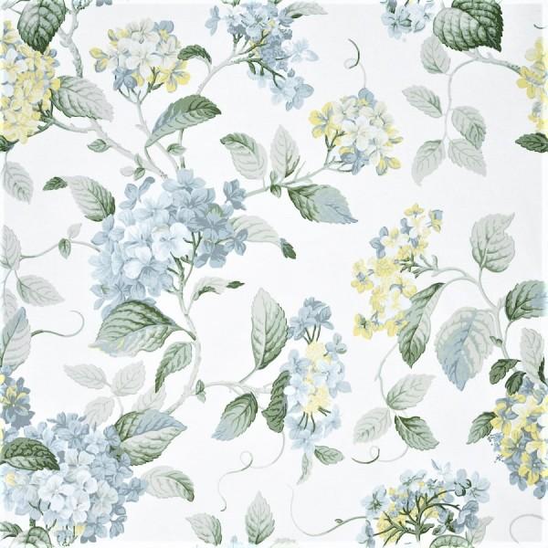 Υφασματα για Κουρτινες - Υφάσματα Κουρτίνες με το μέτρο για Σαλόνι ,Υπνοδωμάτιο ,Καθιστικό , Παιδικό Ashley Wilde ,High Grove col.Forget Me Not aqua λουλούδια floral Φ1,40 βαμβακερό
