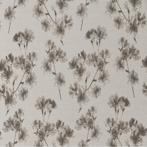 Υφασματα για Κουρτινες - Υφάσματα Κουρτίνες με το μέτρο για Σαλόνι ,Υπνοδωμάτιο ,Καθιστικό , Παιδικό Ashley Wilde ,Mae col.Pebble floral Jacquard σχέδιο λουλουδιών σε χρώμα μπεζ-γκρι Φ1.40 , χωρίς διαφάνεια