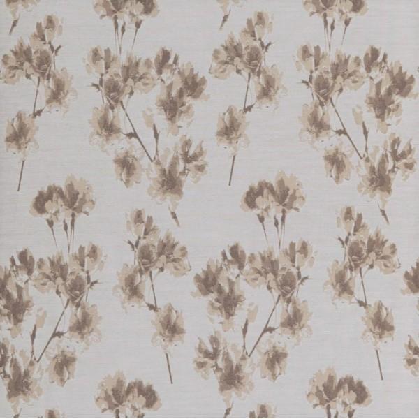 Υφασματα για Κουρτινες - Υφάσματα Κουρτίνες με το μέτρο για Σαλόνι ,Υπνοδωμάτιο ,Καθιστικό , Παιδικό Ashley Wilde ,Mae col.Sand floral Jacquard σχέδιο λουλουδιών σε χρώμα μπεζ-καφέ Φ1.40 , χωρίς διαφάνεια