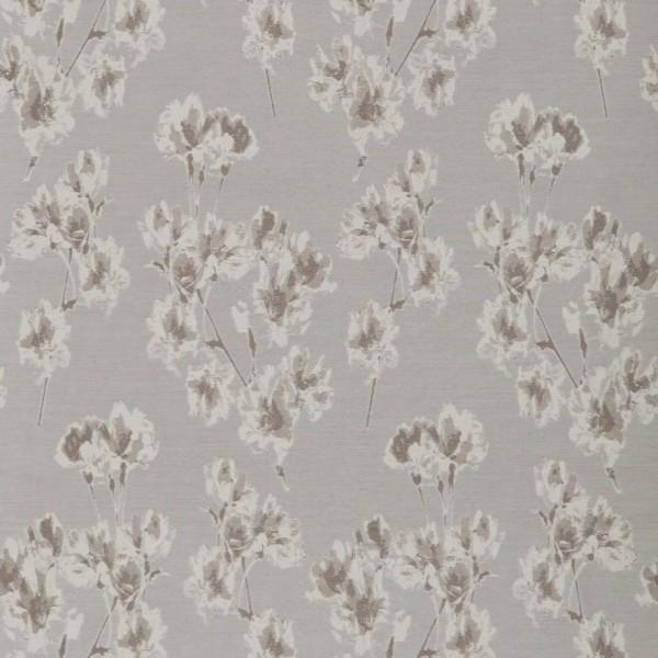 Υφασματα για Κουρτινες - Υφάσματα Κουρτίνες με το μέτρο για Σαλόνι ,Υπνοδωμάτιο ,Καθιστικό , Παιδικό Ashley Wilde ,Mae col.Silver floral Jacquard σχέδιο λουλουδιών σε χρώμα γκρι-ασημί Φ1.40 , χωρίς διαφάνεια