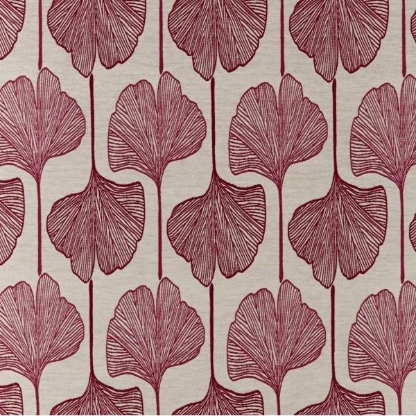 Υφασματα για Κουρτινες - Υφάσματα Κουρτίνες με το μέτρο για Σαλόνι ,Υπνοδωμάτιο ,Καθιστικό , Παιδικό Ashley Wilde , Piper col.Berry floral Jacquard σχέδιο φύλλου μπεζ-δαμασκηνί σε παράλληλη διάταξη Φ1.40 , χωρίς διαφάνεια