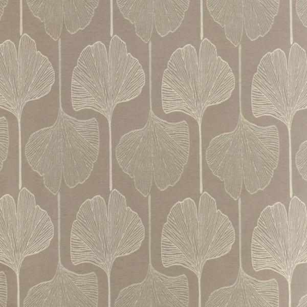 Υφασματα για Κουρτινες - Υφάσματα Κουρτίνες με το μέτρο για Σαλόνι ,Υπνοδωμάτιο ,Καθιστικό , Παιδικό Ashley Wilde , Piper col.Putty floral Jacquard σχέδιο φύλλου μπεζ-γκρι σε παράλληλη διάταξη Φ1.40 , χωρίς διαφάνεια