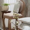 Υφάσματα Κουρτίνες με το μέτρο για Σαλόνι ,Υπνοδωμάτιο ,Καθιστικό VIELLA 95 γκρι ζακαρ floral βαμβακερό οικολογικό natural Φ280 χωρίς διαφάνεια