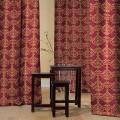 Υφασματα για Κουρτινες - Υφάσματα Κουρτίνες με το μέτρο για Σαλόνι ,Υπνοδωμάτιο ,Καθιστικό ADUA 15 μπορντό χρυσαφί ζακαρ πολυεστερικό Φ280