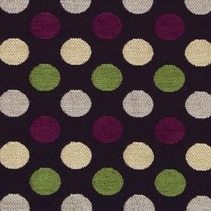 Υφάσματα Κουρτίνες με το μέτρο για Σαλόνι ,Υπνοδωμάτιο ,Καθιστικό PERKINS 52 μαύρο πράσινο μωβ πουά ζακαρ chenille Φ280