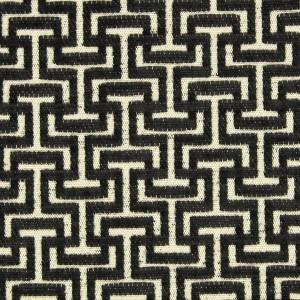 Υφάσματα Κουρτίνες με το μέτρο για Σαλόνι ,Υπνοδωμάτιο ,Καθιστικό STEVENS 32 ανθρακί μπεζ γεωμετρικό ζακαρ chenille Φ280