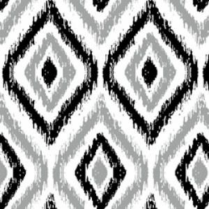 Υφάσματα Κουρτίνες με το μέτρο για Σαλόνι ,Υπνοδωμάτιο ,Καθιστικό IKAT 32 γκρι εκρού μοτίβα ethnic digital βαμβακερό Φ280