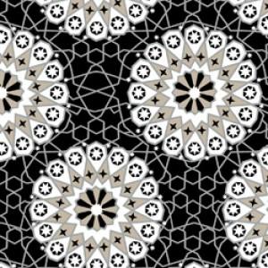 Υφάσματα Κουρτίνες με το μέτρο για Σαλόνι ,Υπνοδωμάτιο ,Καθιστικό MOROCCO 32 γραφίτης εκρού μοτίβα ethnic digital βαμβακερό Φ280