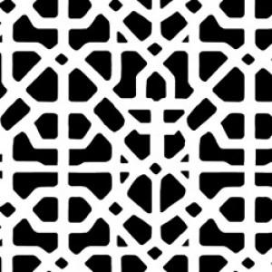 Υφάσματα Κουρτίνες με το μέτρο για Σαλόνι ,Υπνοδωμάτιο ,Καθιστικό MEDITERRANEAN 32 γραφίτης εκρού γεωμετρικό digital βαμβακερό Φ280