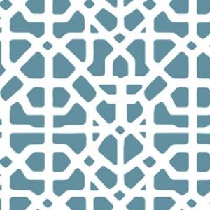 Υφάσματα Κουρτίνες με το μέτρο για Σαλόνι ,Υπνοδωμάτιο ,Καθιστικό MEDITERRANEAN 62 πετρολ εκρού γεωμετρικό digital βαμβακερό Φ280