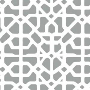Υφάσματα Κουρτίνες με το μέτρο για Σαλόνι ,Υπνοδωμάτιο ,Καθιστικό MEDITERRANEAN 96 γκρι εκρού γεωμετρικό digital βαμβακερό Φ280