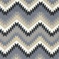 Υφάσματα Κουρτίνες με το μέτρο για Σαλόνι ,Υπνοδωμάτιο ,Καθιστικό ZIGZAG 32 γκρι εκρού ethnic digital βαμβακερό Φ280