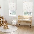 Ρολοκουρτίνα, Ρόλερ Σκίασης ,Στόρια , Κουρτινόξυλα για παιδικά δωμάτια, για κορίτσια , για αγόρια , για bebe δωμάτια, Dms_Kids stars μπεζ σιελ SKG2-218 αστεράκια μερικής διαφάνειας .