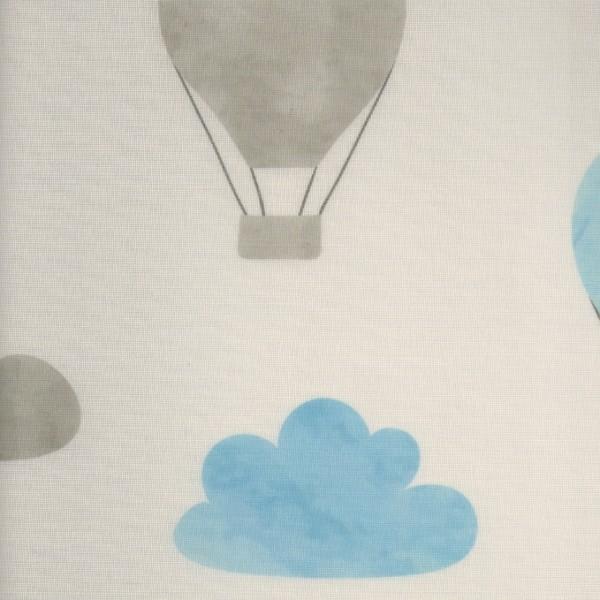 Ρολοκουρτίνα, Ρόλερ Σκίασης ,Στόρια , Κουρτινόξυλα για παιδικά δωμάτια, για κορίτσια , για αγόρια , για bebe δωμάτια, Dms_Kids ballons αερόστατα σιελ μερικής διαφάνειας .