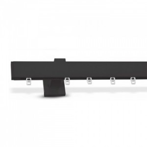 Σιδηρόδρομος Κουρτινών Domus Τ20 PF χρώμα μαύρο