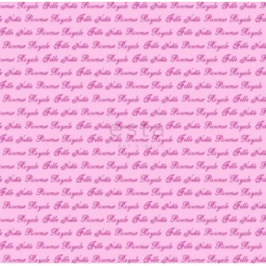 BAZAAR -Ταπετσαρία Τοίχου 114948 ροζ γράμματα Princesses
