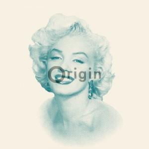 Ταπετσαρίες Τοίχου για όλο το σπίτι ,Park Avenue 326349 Marilyn Monroe λευκή - τυρκουαζ μη υφαντή (non-woven) μεταξοτυπίας