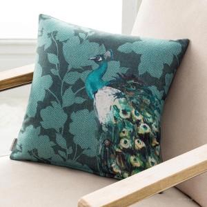 Θήκες για διακοσμητικά μαξιλάρια , (43X43) Gofis Home Winster 313 πετρόλ floral με ανεξίτηλο τύπωμα