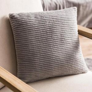 Θήκες για διακοσμητικά μαξιλάρια , βαμβακερές,chenille (43Χ43) Gofis Home Softy 478/15 γκρι από οικολογική γούνα