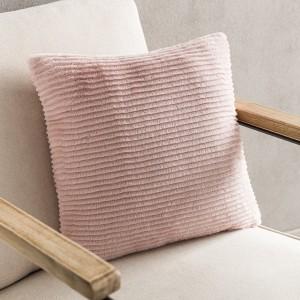 Θήκες για διακοσμητικά μαξιλάρια , βαμβακερές,chenille (43Χ43) Gofis Home Softy 478/17 Peach Pink από οικολογική γούνα