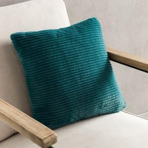 Θήκες για διακοσμητικά μαξιλάρια , βαμβακερές,chenille (43Χ43) Gofis Home Softy 478/18 πετρολ από οικολογική γούνα