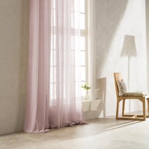 Κουρτίνα Έτοιμη Ραμμένη Ροζ (140Χ260) Mε Tρέσα Gofis Home Combe 502B/17, με διαφάνεια