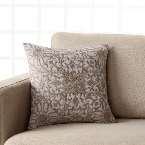 Θήκες για διακοσμητικά μαξιλάρια , (43Χ43) Gofis Home 432/15 Γκρι suede με ανάγλυφο κέντημα  , Συλλογή Χειμώνας 2017