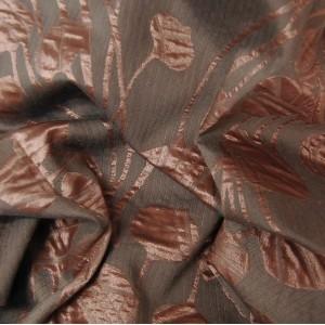 Κουρτινες Προσφορα - Υφάσματα με το μέτρο Κουρτίνες για Σαλόνι , Καθιστικό, Τραπεζαρία , Υπνοδωμάτιο ,Έπιπλα SEHRAZAT/7 κεραμιδί ζακαρ λουλούδια Φ280 πολυεστερικό