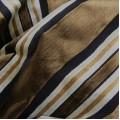 Υφάσματα Κουρτίνες με το μέτρο για Σαλόνι , Καθιστικό, Τραπεζαρία , Υπνοδωμάτιο ,Έπιπλα 446/2605/6 χρυσαφί καφέ ριγέ βελούδο ανάγλυφο Φ140