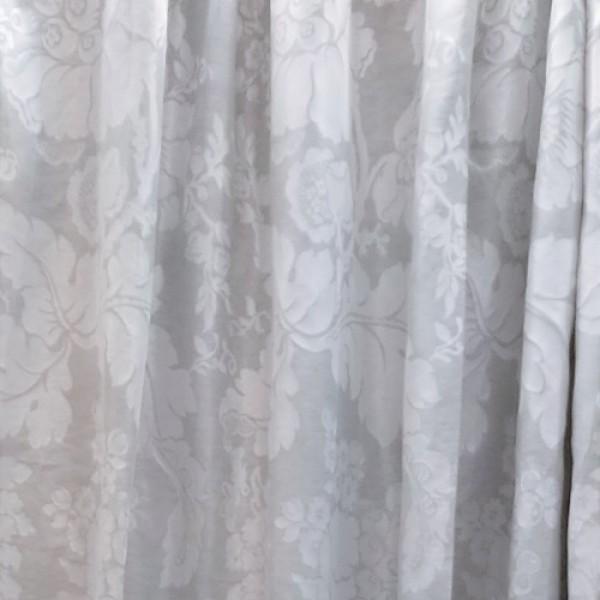 Κουρτίνες Έτοιμες Ραμμένες Υφάσματα για Σαλόνι , Καθιστικό, Τραπεζαρία , Υπνοδωμάτιο 280X280 Alh 485/6023/4 aqua floral λινό διπλής όψης με απλή συνεχόμενη τρέσα 8εκ ,χωρίς διαφάνεια