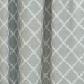 Κουρτίνες Έτοιμες Ραμμένες Υφάσματα για Σαλόνι , Καθιστικό, Τραπεζαρία , Υπνοδωμάτιο χωρίς διαφάνεια 140X290 Dinah col.Sky aqua με κεντημένα φυλλαράκια σε σχήμα ρόμβος  με απλή συνεχόμενη τρέσα