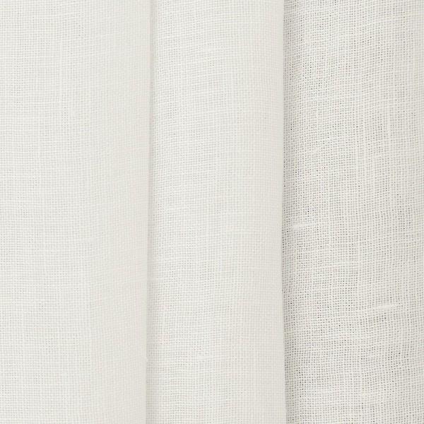 Υφασματα για Κουρτινες - Κουρτίνες με το μέτρο για όλο το σπίτι ,Jasmine white μονόχρωμη λινή Φ310 ημιδιάφανη