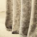 Υφασματα για Κουρτινες - Κουρτίνες με το μέτρο για όλο το σπίτι ,Great taupe λινή με μοντέρνο μοτίβο Φ300 ημιδιάφανη