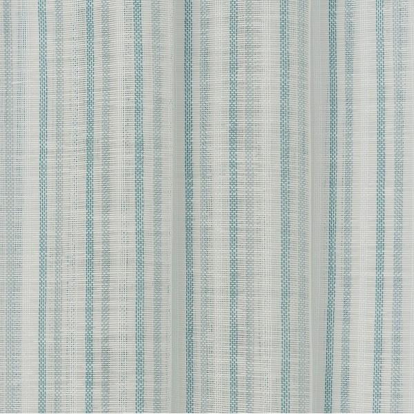 Υφασματα για Κουρτινες - Κουρτίνες με το μέτρο για όλο το σπίτι ,Tessera turquoise με ψιλή ρίγα Φ315 ,με διαφάνεια