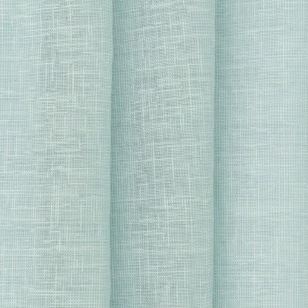 Υφασματα για Κουρτινες - Κουρτίνες με το μέτρο για όλο το σπίτι ,Tessera plain turquoise μονόχρωμη Φ315 ,με διαφάνεια