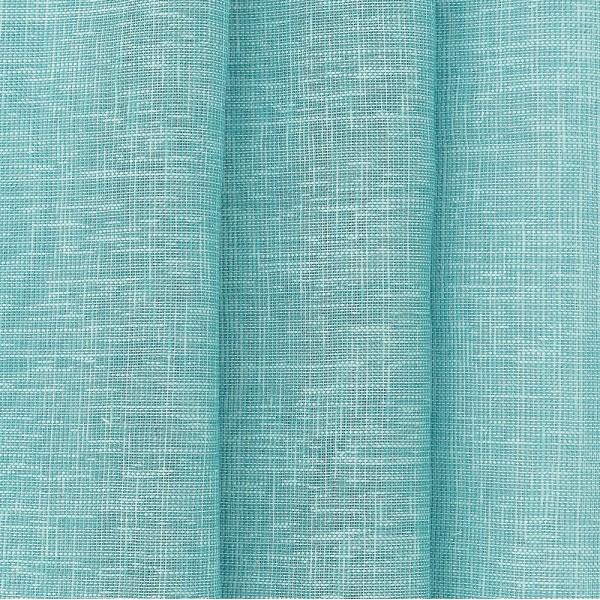 Υφασματα για Κουρτινες - Κουρτίνες με το μέτρο για όλο το σπίτι ,Tessera plain dark turquoise μονόχρωμη Φ315 ,με διαφάνεια