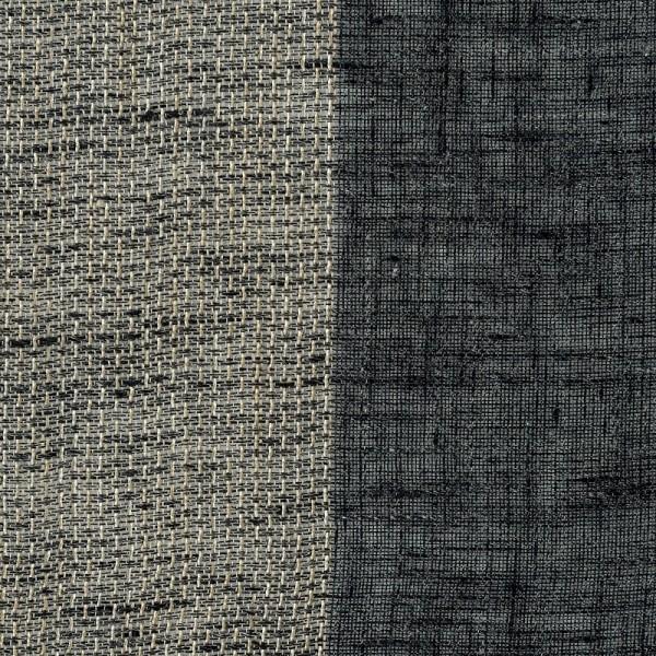 Υφασματα για Κουρτινες - Κουρτίνες με το μέτρο για όλο το σπίτι , Reborn black με ρίγα σε μαύρο-σταχτί χρώμα Φ300  μερικής διαφάνειας
