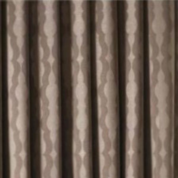 Υφάσματα Κουρτίνες με το μέτρο για Σαλόνι ,Υπνοδωμάτιο ,Καθιστικό ,Γραφείο TL Ada/04 brown-beige μοντέρνο σχέδιο με κύματα διπλής όψης με απαλή υφή Φ2.80 , χωρίς διαφάνεια