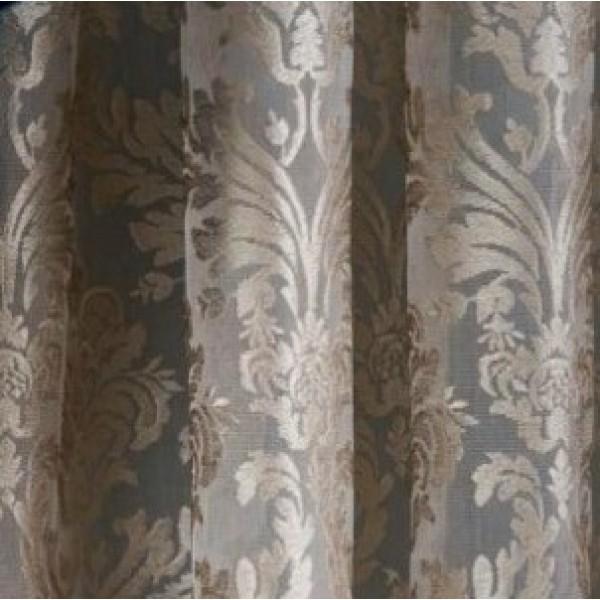 Υφάσματα Κουρτίνες με το μέτρο για Σαλόνι ,Υπνοδωμάτιο ,Καθιστικό ,Γραφείο TL Como/03 beige δαντέλλα μονόχρωμη με τελείωμα γλώσσες Φ3.00 , ημι-διάφανη