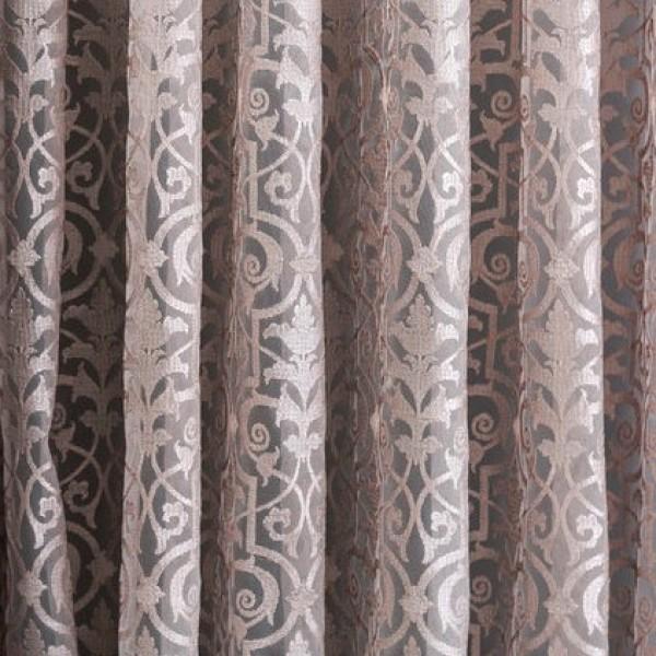 Υφασματα για Κουρτινες - Υφάσματα Κουρτίνες με το μέτρο για Σαλόνι ,Υπνοδωμάτιο ,Καθιστικό ,Γραφείο TL Fantazi Krakow 24002 col.Powder δαντέλλα floral με τελείωμα γλώσσες Φ3.00 , με διαφάνεια