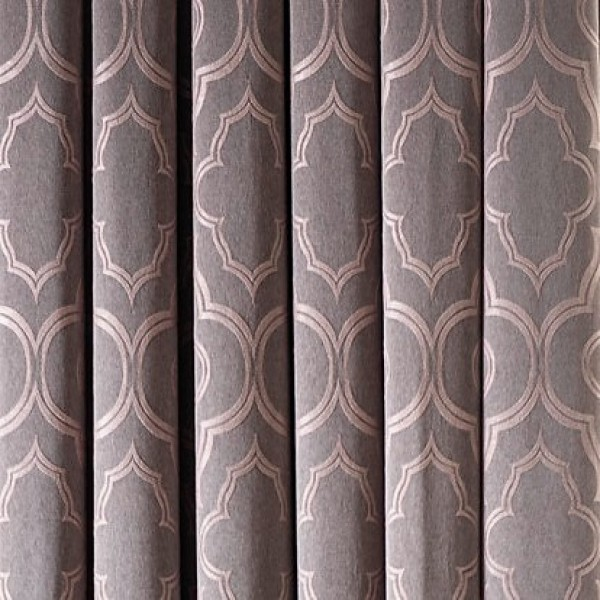 Υφάσματα Κουρτίνες με το μέτρο για Σαλόνι ,Υπνοδωμάτιο ,Καθιστικό ,Γραφείο TL Malika/08 pink μοντέρνο γεωμετρικό σχέδιο διπλής όψης με απαλή υφή Φ2.80 , χωρίς διαφάνεια
