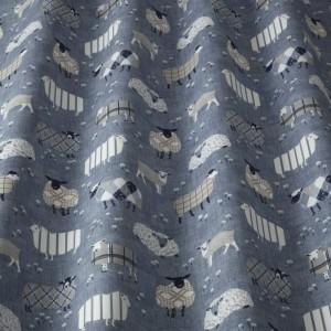 Υφασματα για Κουρτινες - Υφάσματα Κουρτίνες με το μέτρο για Σαλόνι ,Υπνοδωμάτιο ,Καθιστικό iLiv Baa Baa/Denim ραφ πρόβατα βαμβακερό Φ140 χωρίς διαφάνεια