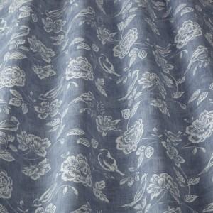Υφασματα για Κουρτινες - Υφάσματα Κουρτίνες με το μέτρο για Σαλόνι ,Υπνοδωμάτιο ,Καθιστικό iLiv Bird Garden/Denim ραφ floral λουλούδια βαμβακερό Φ140 χωρίς διαφάνεια