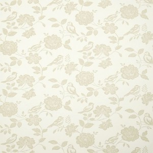 Ταπετσαρίες Τοίχου για όλο το σπίτι ,iLiv Bird Garden/Canvas μπεζ floral λουλούδια – Non Woven  μη υφαντή
