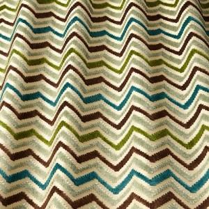 Υφάσματα Κουρτίνες με το μέτρο για Σαλόνι ,Υπνοδωμάτιο ,Καθιστικό iLiv_Carnival Forest πολύχρωμο γεωμετρικό zig-zag βελούδο Φ140 χωρίς διαφάνεια