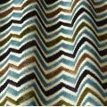 Υφάσματα Κουρτίνες με το μέτρο για Σαλόνι ,Υπνοδωμάτιο ,Καθιστικό iLiv_Carnival Midnight πολύχρωμο γεωμετρικό zig-zag βελούδο Φ140 χωρίς διαφάνεια